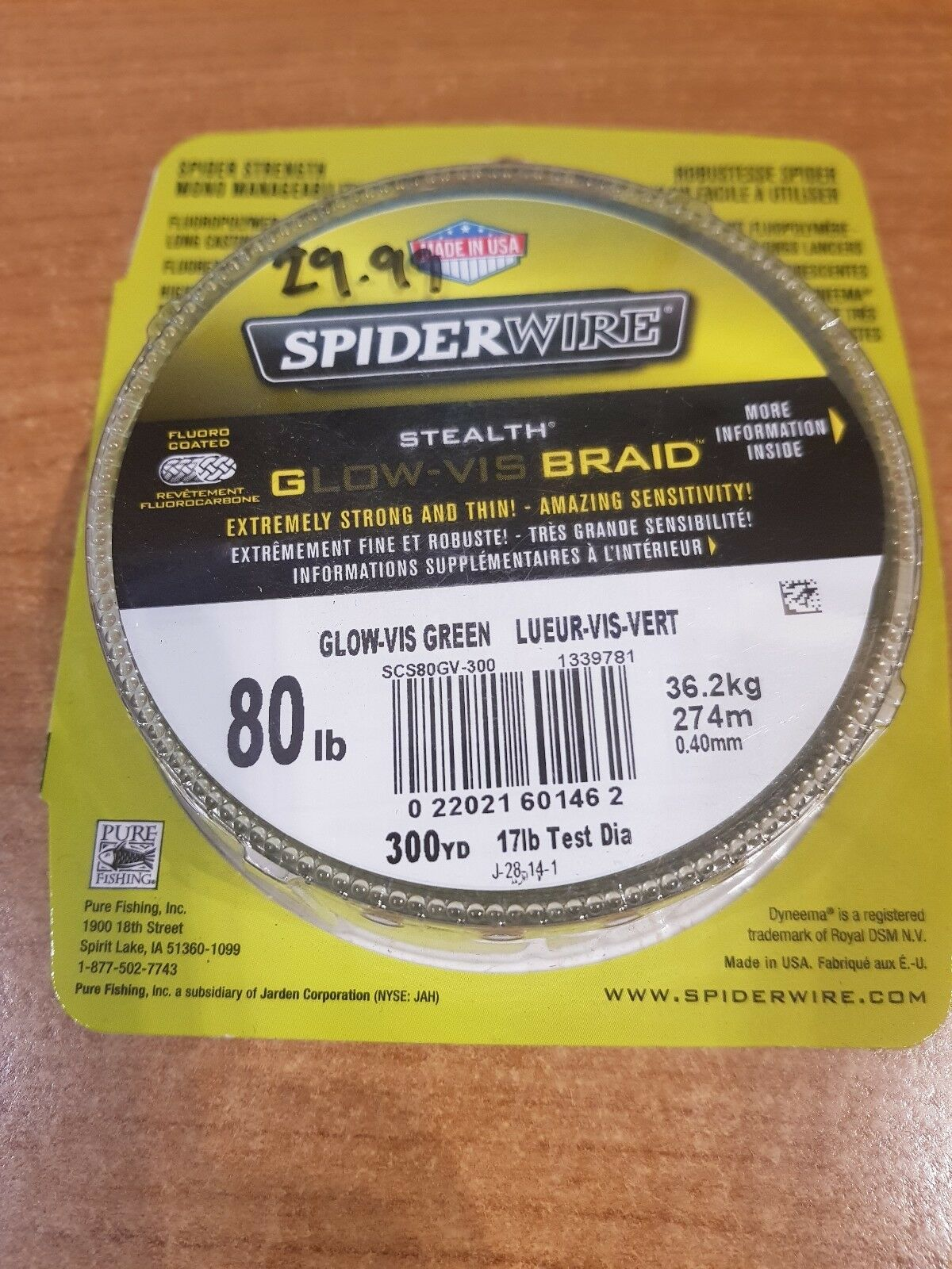 Spiderwire Stealth Glow-Vis Braid  80lb 274m 0.40mm  select from the newest brands like