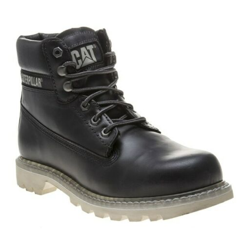 New Mens Caterpillar Navy Colorado Leather Boots Chukka Lace Up