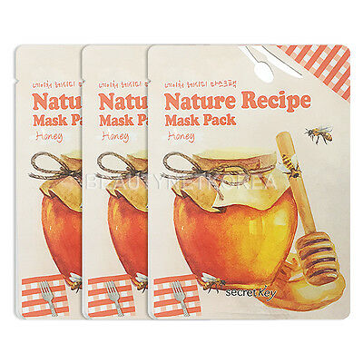 [SECRET KEY] Nature Recipe Mask Pack Honey 3pcs / Korea cosmetic