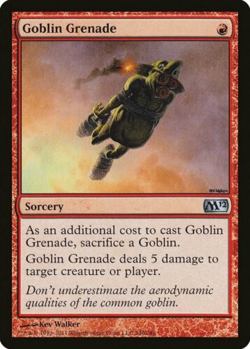 M12 PLD Red Uncommon MAGIC MTG CARD ABUGames Goblin Grenade Magic 2012