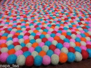 Image Is Loading Pom Felt Ball 110 Cm Round Nursery
