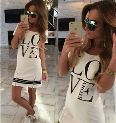 Women Summer  Slim loose casual Cocktail Party Evening Club short Mini Dress