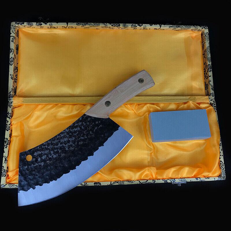 Hand Forgé ménage trancheuse hachoir couteau acier au manganèse chef Spécial couteau