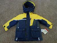 Osh Kosh Brand Boy's Sz 18 Months Blue & Yellow Winter Jacket Msrp $70.00