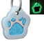 Glitter-Paw-Print-Pet-ID-Tags-Custom-Engraved-Dog-Cat-Tag-Personalized thumbnail 26