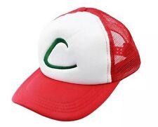 Pokemon Ash Ketchum Mesh Baseball Cap Hat Anime Cosplay For Men & Women