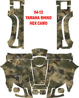 Yamaha Rhino 04-12 Side By Side 450 660 700 Hex Camo Wrap Decal Sticker Kit