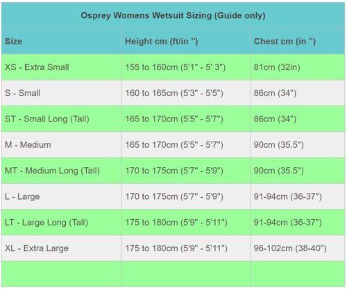 Osprey Origin 5mm Wetsuit Womens Ladies Full Length Winter Neoprene Blue Grey