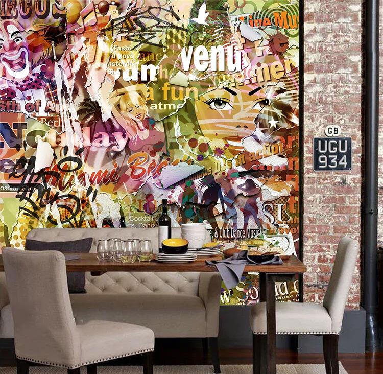 3D Graffiti 253  Photo Papier Peint en Autocollant Murale Plafond Chambre Art