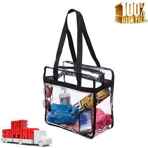 Image Is Loading Clear Tote Stadium Bags Purse Plastic Transparent Handbags