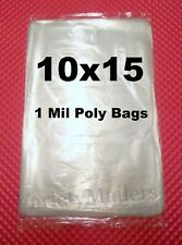 100 Clear Poly Merchandise Bags 10 X 15 1 Mil Apparel Plastic Bags 10x15