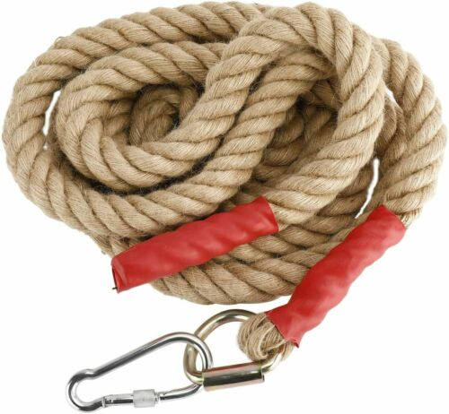 Heavy Duty 10 FT Gym Climbing Ropes with Carabiner