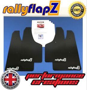 rallyflapZ-VAUXHALL-CORSA-D-VXR-06-14-Mud-Flaps-Kit-Black-4mm-PVC-Logo-White