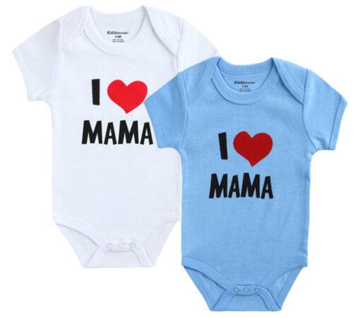 Trajes AMO A PAPA  Ropa de Bebe Recien Nacido Bodys Bebe 100/% Algodón Newborn