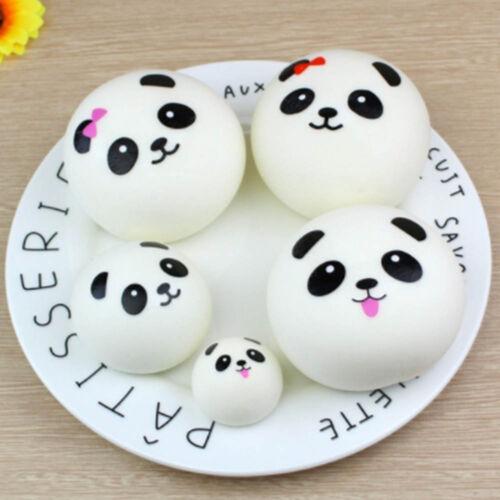 Ball Soft Bread Silicone Kawaii PU Straps  Squishies Toys Panda Squeeze