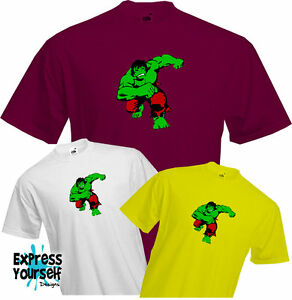 HULK-T-Shirt-Marvel-Comic-Action-hero-Fun-Cool-Retro-Dad-Fathers-day