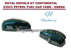 """Royal Enfield """" Gt Continental 535cc Bleu Pétrole Carburant Gas Réservoir - Vert"""