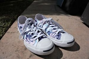 1823cdaf16bee3 Image is loading Jack-Purcell-Converse-RARE-Floral-Shoes-sneakers-size-