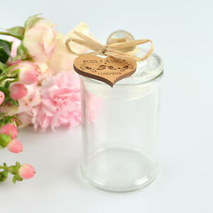 50x wedding lolly candy sweet favour jars 135ml custom engraved