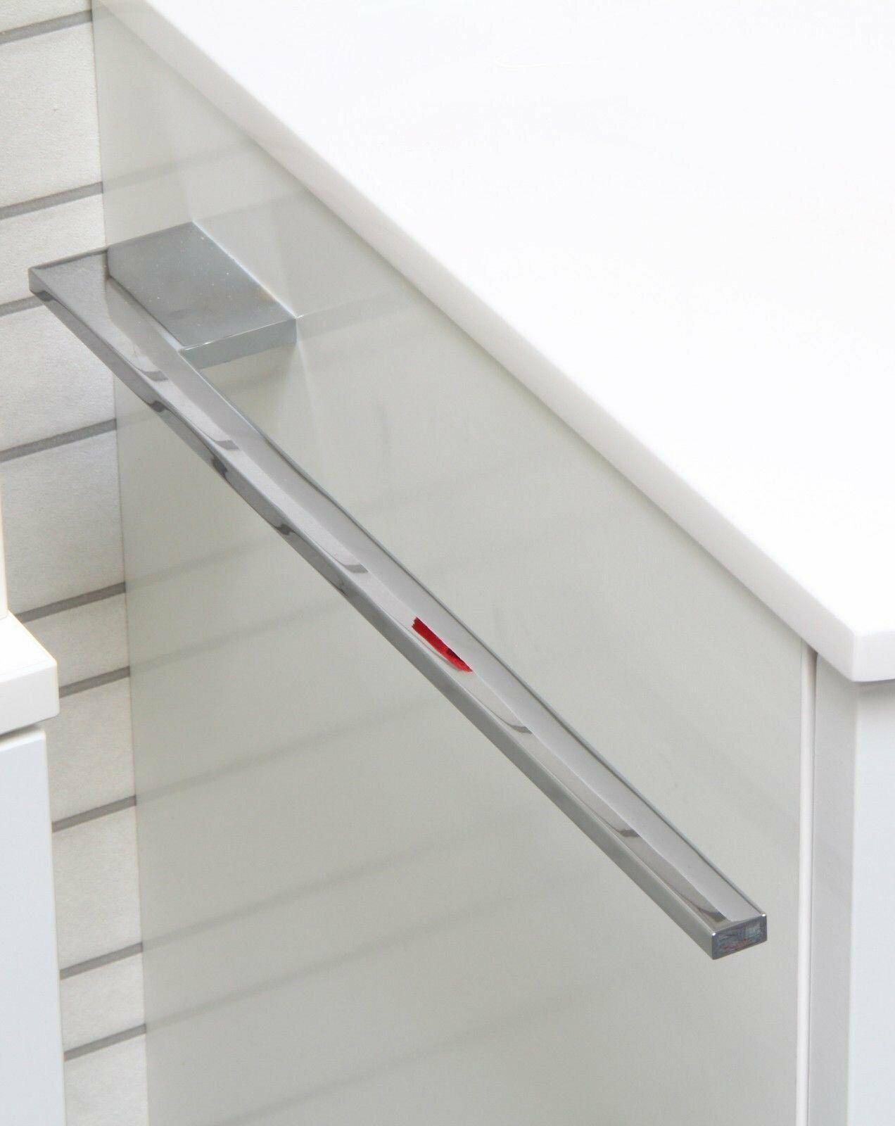 Handtuchhalter Bad WC Schrank Chrom Fackelmann Design Handtuchstange