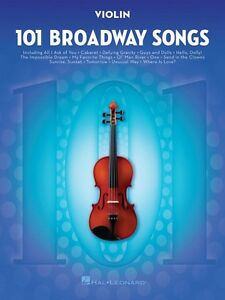 Details about 101 Broadway Songs for Violin Instrumental Solo Book NEW  000154206