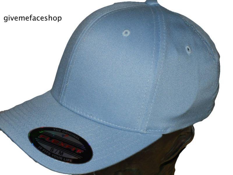 Flexfit Einfarbig Fitted Mütze Hut ,Blau Enganliegend Kappe Hip Hop Flexi Für