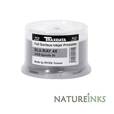 100 Ritek Pro Blank Blu Ray Discs 4x Bulkpack Inkjet Printable BD R 25GB