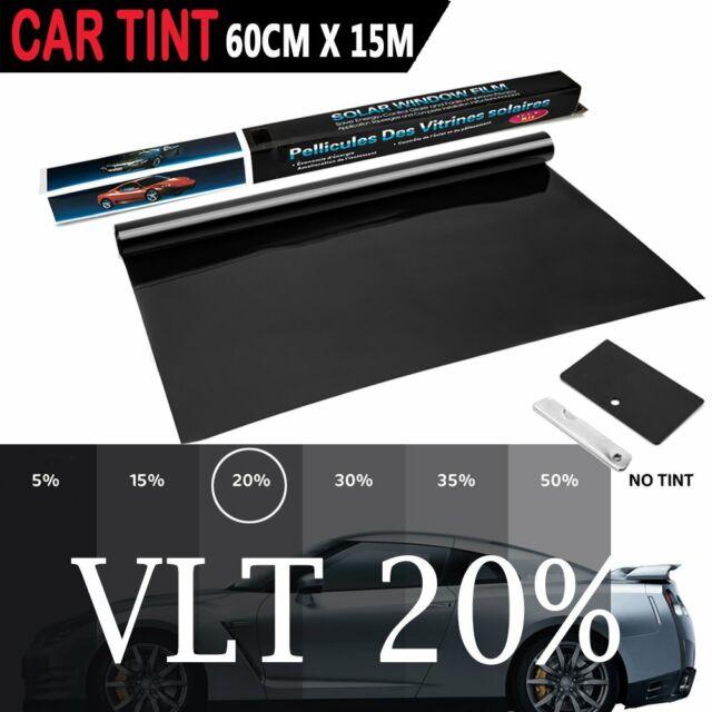 "Wimax Smoke 35/% VLT 20/"" In x 10/' Ft Feet Uncut Roll Window Tint Film Car Home"