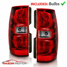 For 2007 2014 Chevy Suburban Tahoe Red Clear Replacement Tail Lights Lamp Pair Fits 2007 Chevrolet Suburban 1500