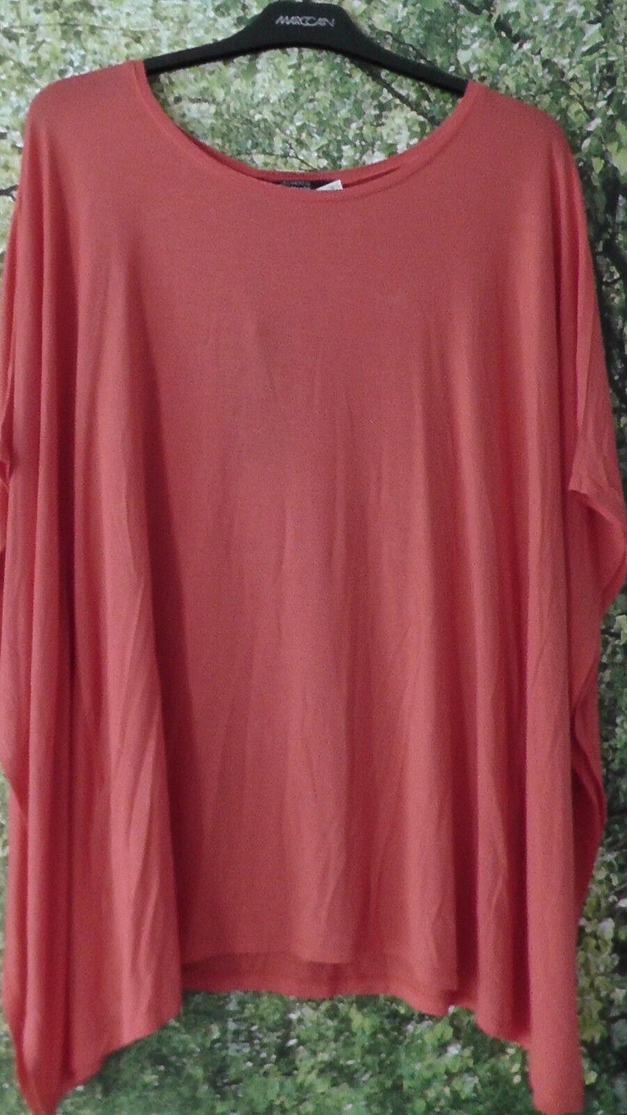 GUESS by MARCIANO Damen Shirt Größe 4 L 40 Koralle Viskosemischung