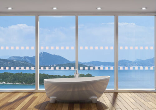 SQUARES 49mm x 30m GLASS WINDOW SAFETY DOTS MANIFESTATIONS