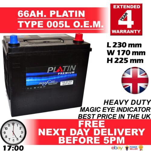 Platin 005L Toyota Celica 1.8 16V VT-i 1999-2005 Battery 4 Year Guarantee H//DUTY