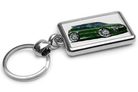 RetroArtz Rover MG ZR 'facelift' in Racing Green Premium Metal Key Ring