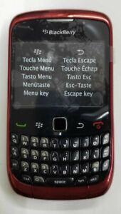 BlackBerry Curve 9300 Unlocked GSM 3G WiFi Qwerty Camera Smartphone Red