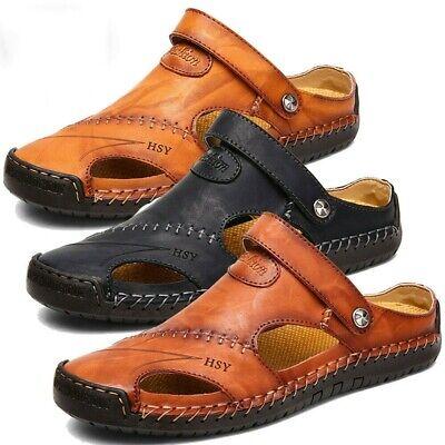 Men Fisherman Sandals Leather Slippers