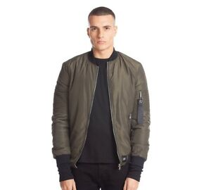good selling buy sale brand new Details about Mens Sixth June Pintuck Biker Khaki Bomber Jacket RRP £64.99