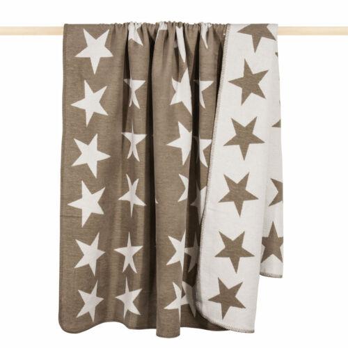 PAD Decke Sterne Stars beige Kuscheldecke Wohndecke 200x150 cm
