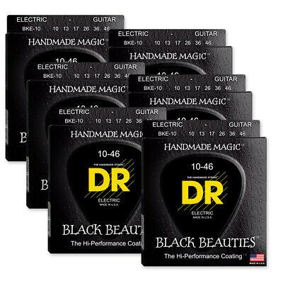 10-46 DR Strings Electric Guitar Strings Black Beauties-Black Coated