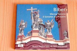 Biber-Mensa-Sonora-3-Sonates-du-Rosaire-Goebel-CD-Archiv-Produktion