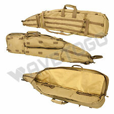 VISM NcSTAR Tactical Drag Bag Heavy Duty PVC Padded Double Rifle Gun Case Tan