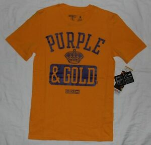 new style 75a55 3d871 Details about Los Angeles LA Kings CCM Purple & Gold Mens T-Shirt NHL Hockey