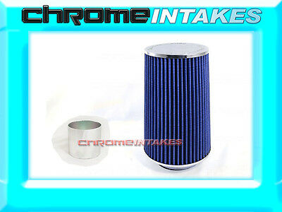 """RED UNIVERSAL 3.5/"""" BIG 9/"""" AIR FILTER FOR MERCEDES-BENZ AIR INTAKE 2+PIPE"""
