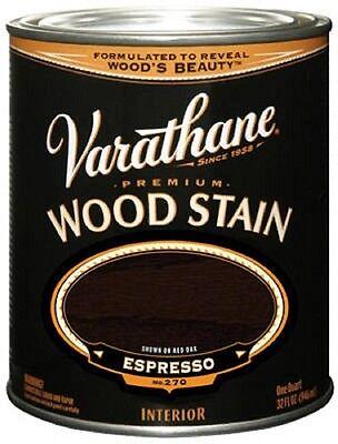 Varathane 1QT, Espresso, Premium Oil Based Interior Wood Stain 241412H