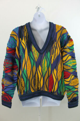 Coogi Yellow & Blue Sweater  XL               (J77