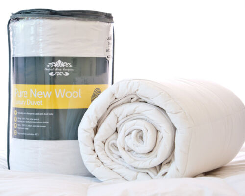 Pure New Australian Wool Unbleached Natural Duvet 10.5 Tog All Year Round Use