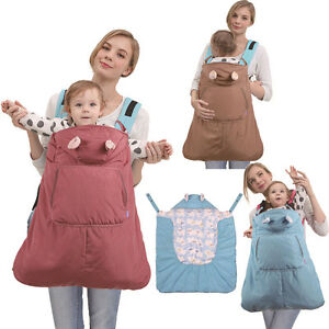 Baby Carrier Sling Seat Outdoor Windproof Cloak Cape Overall Cover Winter New