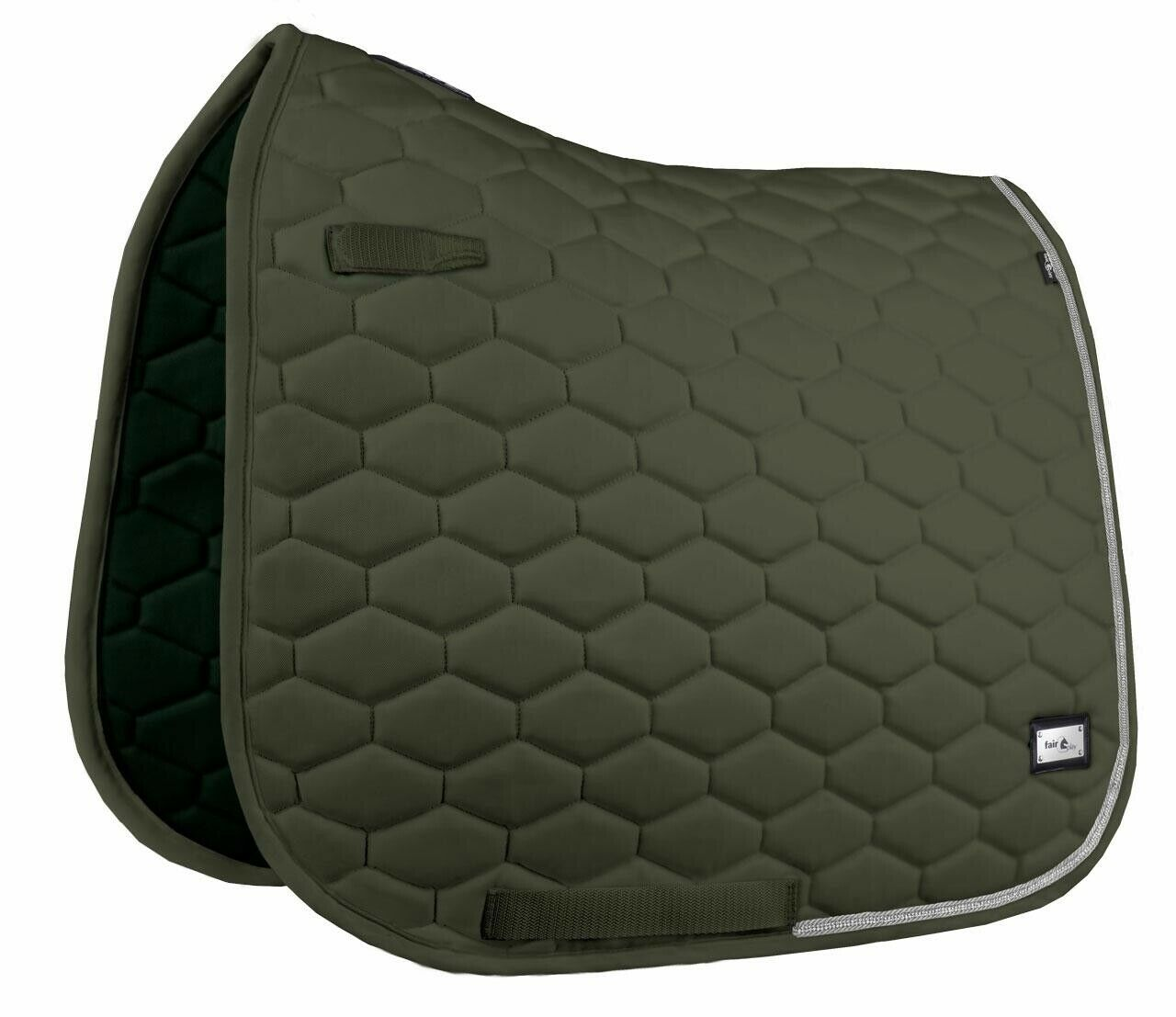 Fair Play Saddle Pad Saddle Pad Hexagon Crystal Dre or vs Trend Colour Olive