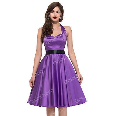 Vintage Style 1950s 1940s Full Circle skirt Tea DRESSES Swing Dress