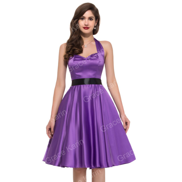 * Fashion 50S DRESSES * Vintage Ladies Sexy Summer Party Pin up Dress