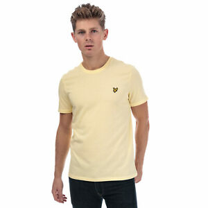 Mens-Lyle-And-Scott-Crew-Neck-T-Shirt-In-Yellow-Crew-Neck